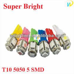 Auto LED T10 5050 5 SMD Auto light/car led bulb/T10 wedge led auto lamp