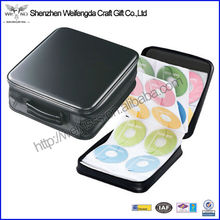 Large Capacity Leather portable dvd player case for 160 CDs