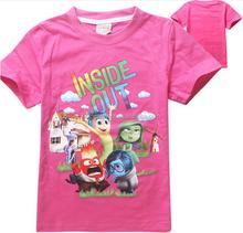 HOT!! 2015 new short sleeve inside out children T-shirt fashion girls tees cute kids T shirts free,shipping