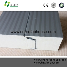 Fireproofing PU sandwich panel with different surface material