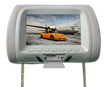 Stable quality 7 inch Car headrest monitor with USB