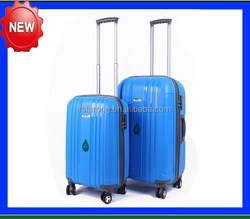 PP injection trolley luggage/China direct factory luggage/Dual spinner wheel luggage