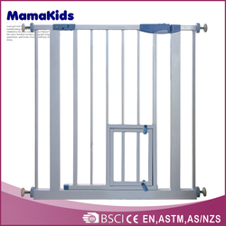 2016 China manufacture Baby Safety Gate Wide Walk Through Child Toddler Pet Door Way Steel Expandable SG-03
