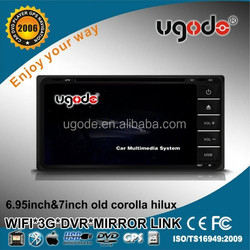 ugode 7inch high quality Android electronics car radio universal TOYOTA corolla hilux