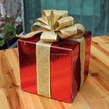 Christmas Box Traditional Santa With Gift Bag Decorative Suitcase
