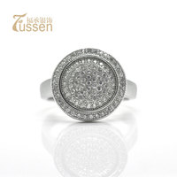FUSSEM Free Shipping Bestselling 925 Sterling Silver & AAA Zircon & Platinum Plated Female Rings Finger Wedding Ring Jewelry