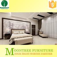Moontree MBR-1390 burma teak cleaning wood veneer bedroom furniture