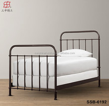 2015 hot sale modern new design metal single bed , home furniture type adult single bed