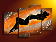 Fashion Handpaint Nude Abstract Oil Painting HT374