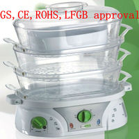 Keep warm plastic food steamer