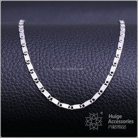 Fashion hot sale rhodium plated chains wholesale pendant necklace