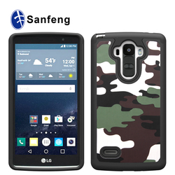 2015 hot selling 3 in1 PC & Silicone Camo Texture Durable Combo Cases For LG G Style/LS 770