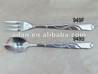 ss short coffee spoon and ss fruit fork