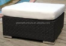 outdoor rattan footstool