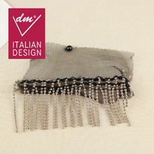 Fancy mesh materials new design embroidery lace