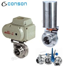 sanitary stainless steel pneumatic and electric price butterfly valve