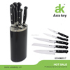 Affordable Price 3 Rivets Stainless Steel And ABS Handle Knife Block Set