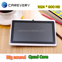 """Android 7"""" quad core HD screen tablet 1.5ghz, Big sound 7 inch cheap tablet with long standby time"""
