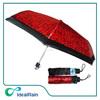 Fashion print red black aluminum custom umbrella folding