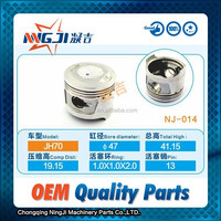 Motorcycle Engine Parts Chinese Motorcycle Parts Engine Piston set for JH70 47mm diameter