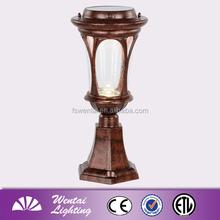 China OEM decorative wedding pillars for sale high powered led solar outdoor gate pillars light