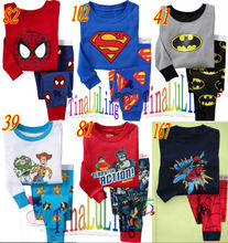 2015 top fashion boys superman pajamas kids funny pajamas, animal pajamas