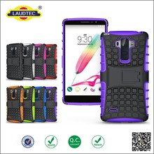 Layers Silicon Stand Cell Phone Case Combo Smart Mobile Cover Case For LG G4 stylus LS770