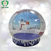 Clear inflatable snow globe,bubble tent,advertising inflatable globe with frozen cartoon