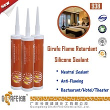 One components neutral cure Fireproof silicone sealant