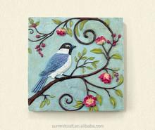 3d bird painting polyresinhandmade wall art decor