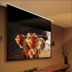 Multimedia use projection electric screen/Film projector screen/Projector screen electric 200""