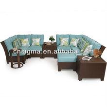 2014 Top Sale Outdoor Patio Furniture Wicker Sectional 11PC Garden Sofa Ikea