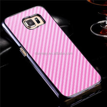 S6 Carbon Fiber PU Leather Mobile Phone Case For Samsung Galaxy S6 G9200 Slim Back Cover Original Brand Desigh High Quality