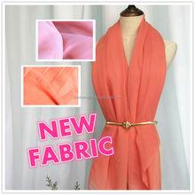 NEW! Crystal Chiffon, translucent fabric with semi dull, imitated silk fabric