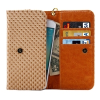 Hot selling Leather wallet two mobile phones leather case