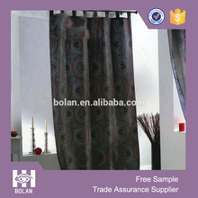 polyester printed flocking winow Curtain