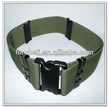 57mm wide green polypropylene belt with plastic changeable buckles