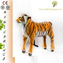 NT-15 factory price Soft Plush kiddie ride walking animal rides FOR SALE, walking animal tiger