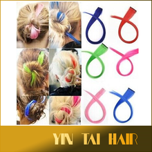 Top Fashion Girl's Colorful Silky Straight Wave Synthetic Hair Single Clip Hair Highlight Clip in Hair Extensions