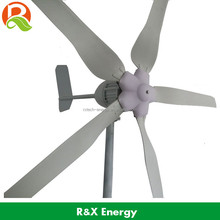 Wind driven generator 1000W AC windmill with 5 blades, 24V/48V used in land and boat
