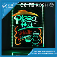 LED writing glowing board advertisement of new electronic products