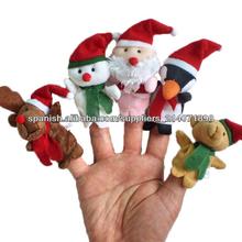5 x Navidad de Santa Claus de peluche Juguetes Títeres dedo Soft educativo Contar historias juguete para niños 8312#