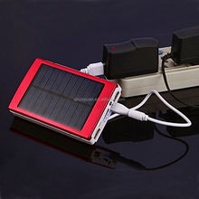 5000/ 6000/7200mAh solar power bank charger factory direct sale, 15000mah power bank