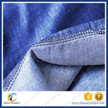 Hot selling flat finish cotton denim fabric with low price