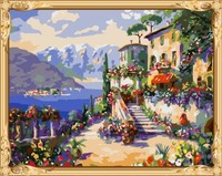 pre printed canvas to paint landscape painting by numbers kits for bedroom decor GX7555