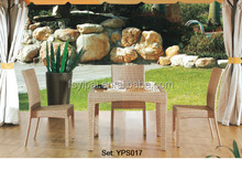 2015 modern rattan chair and solid wood top table hotel set YPS017