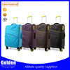 China suppliers various colors travel trolley luggage/ leisure style eminent nylon luggage travel trolley bag