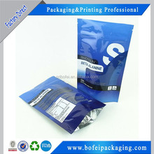 China supplier stand up plastic pouch bag with handle