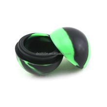 customized ball shape silicone wax jar silicone oil jar silicone medicine jar 38mm 6ml jar
