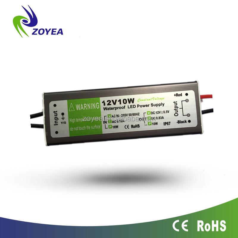 10 Вт 24 В 12 В DC питания электрической Трансформеры IP67 постоянное напряжение светодиодный драйвер для индикатор